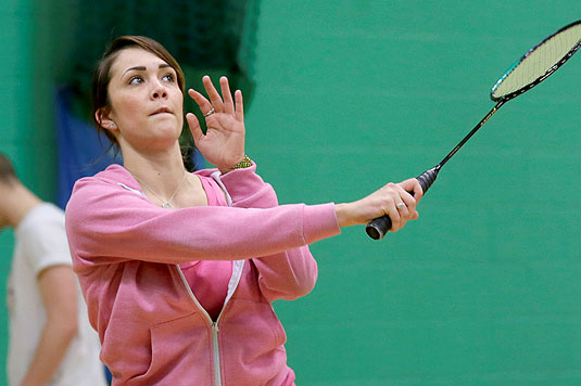 Adult group badminton