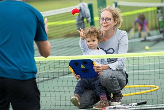 Family tennis