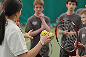 Holiday camp tennis programme