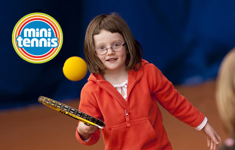 Mini Tennis courses designed specifically for kids, in partnership with Highland Spring