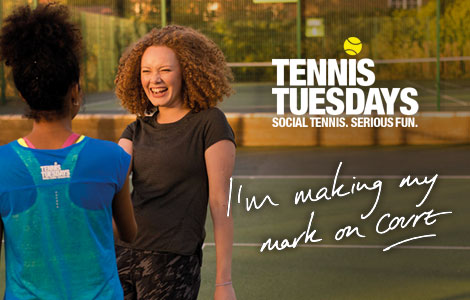 Tennis Tuesdays, a partnership between the LTA and Nike to bring fun tennis courses for women